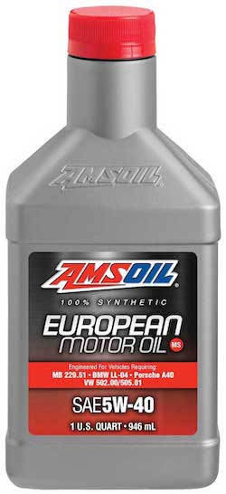 AMSOIL European Car Formula 5W-40 Improved Emissions System Protection Synthetic Oil